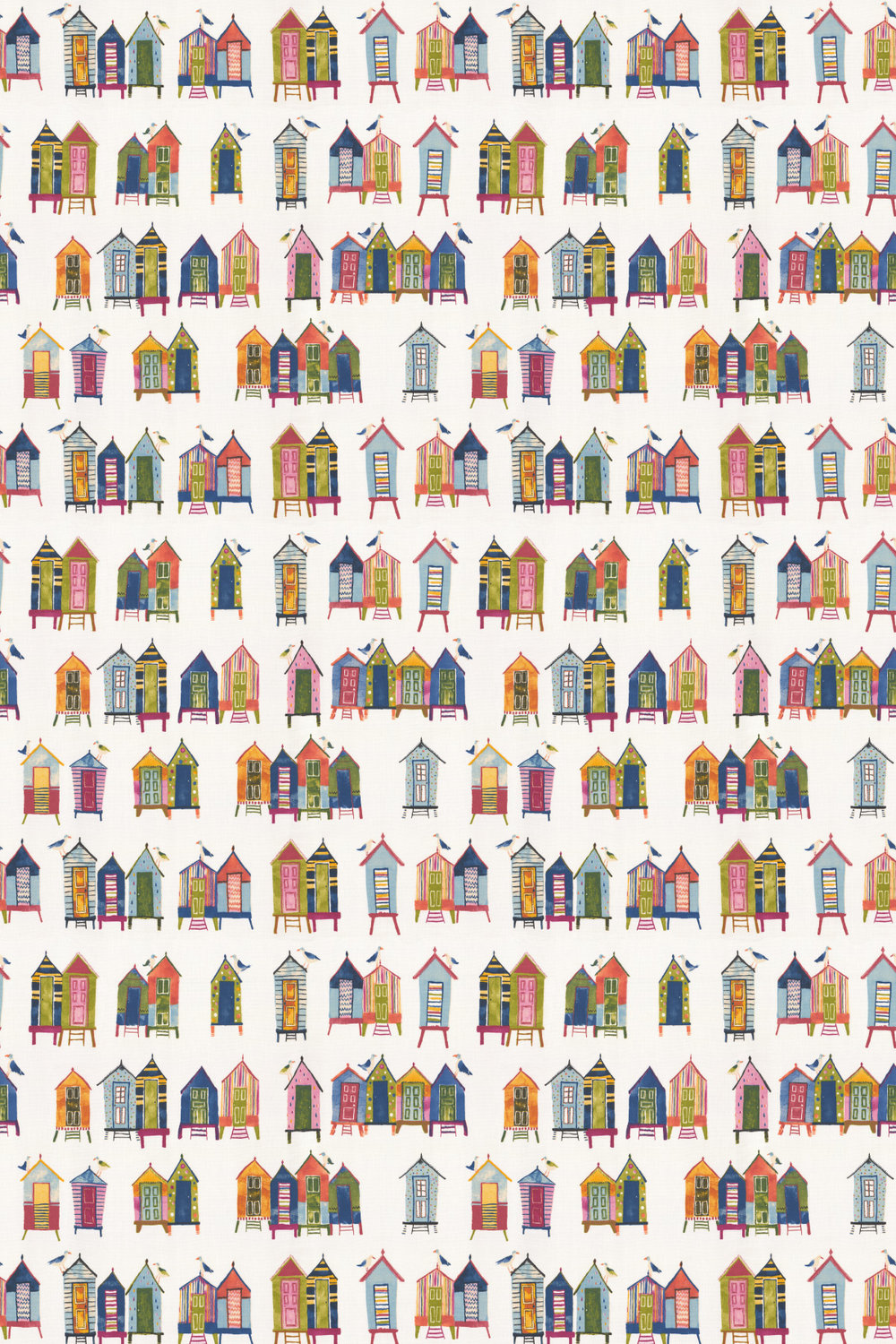 Beach Hut Fabric - Neopolitan - by Prestigious