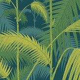 Cole & Son Palm Jungle Petrol and Lime Wallpaper