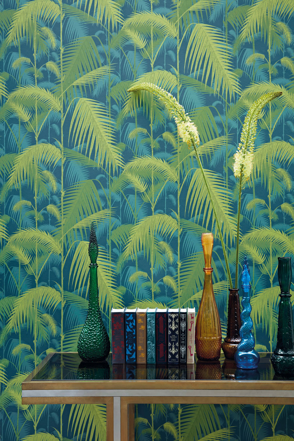 Cole & Son Palm Jungle Petrol and Lime Wallpaper extra image