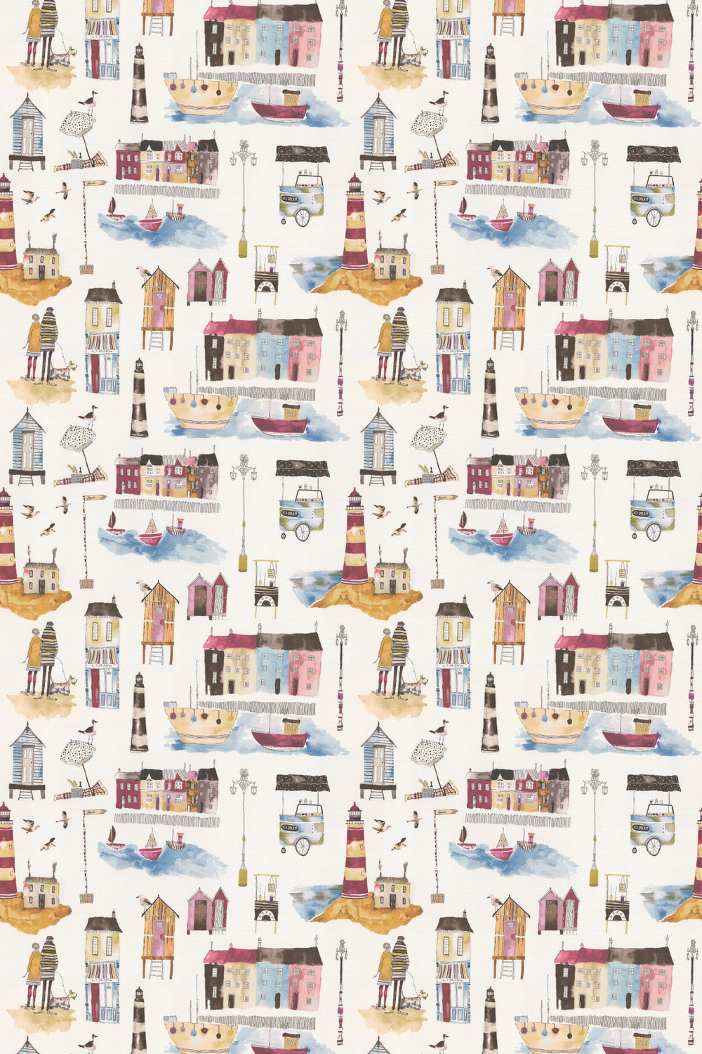 Seaside Fabric - Vintage - by Prestigious