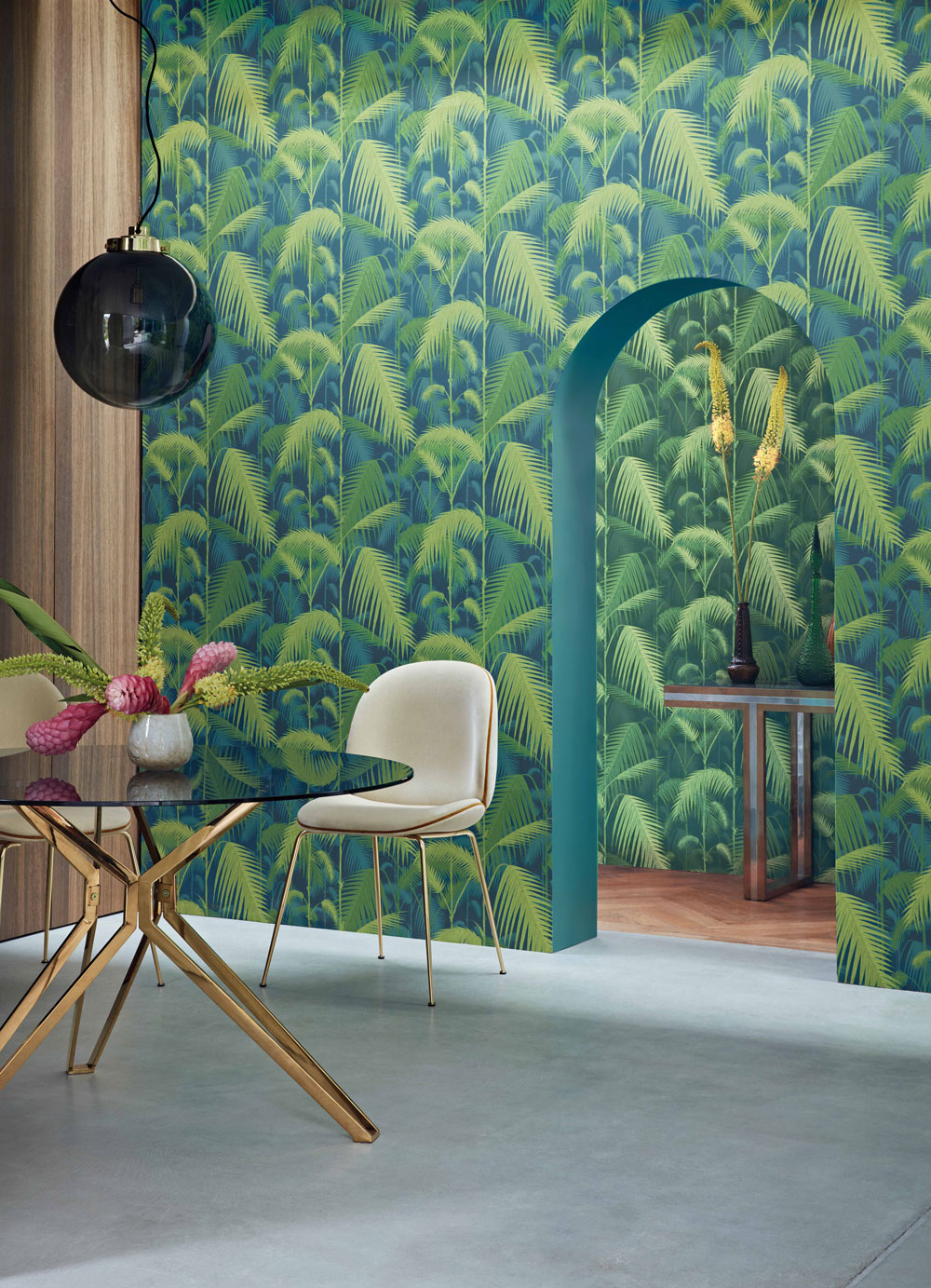 Palm Jungle Wallpaper - Forest Green - by Cole & Son
