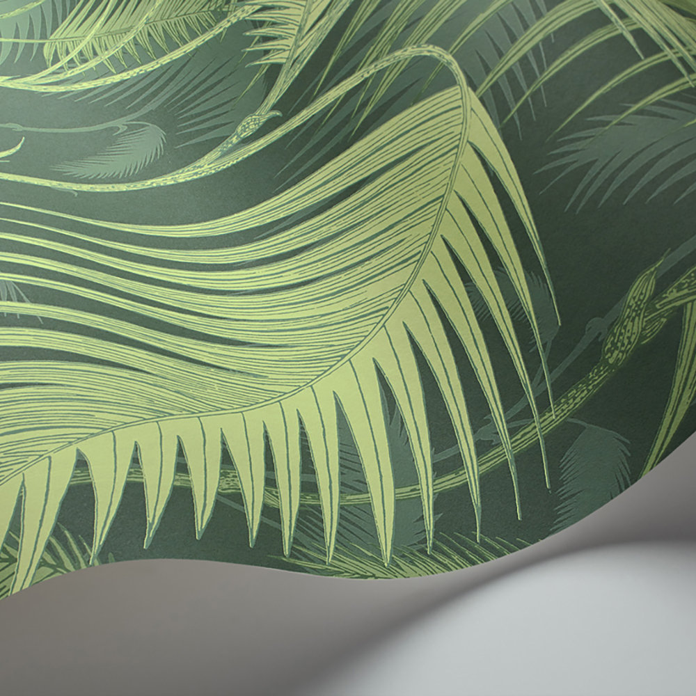Cole & Son Palm Jungle Forest Green Wallpaper extra image
