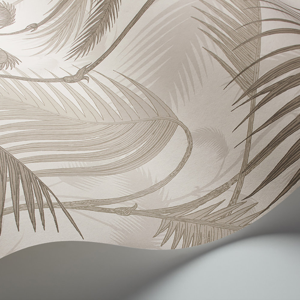 Cole & Son Palm Jungle Stone and Taupe Wallpaper extra image