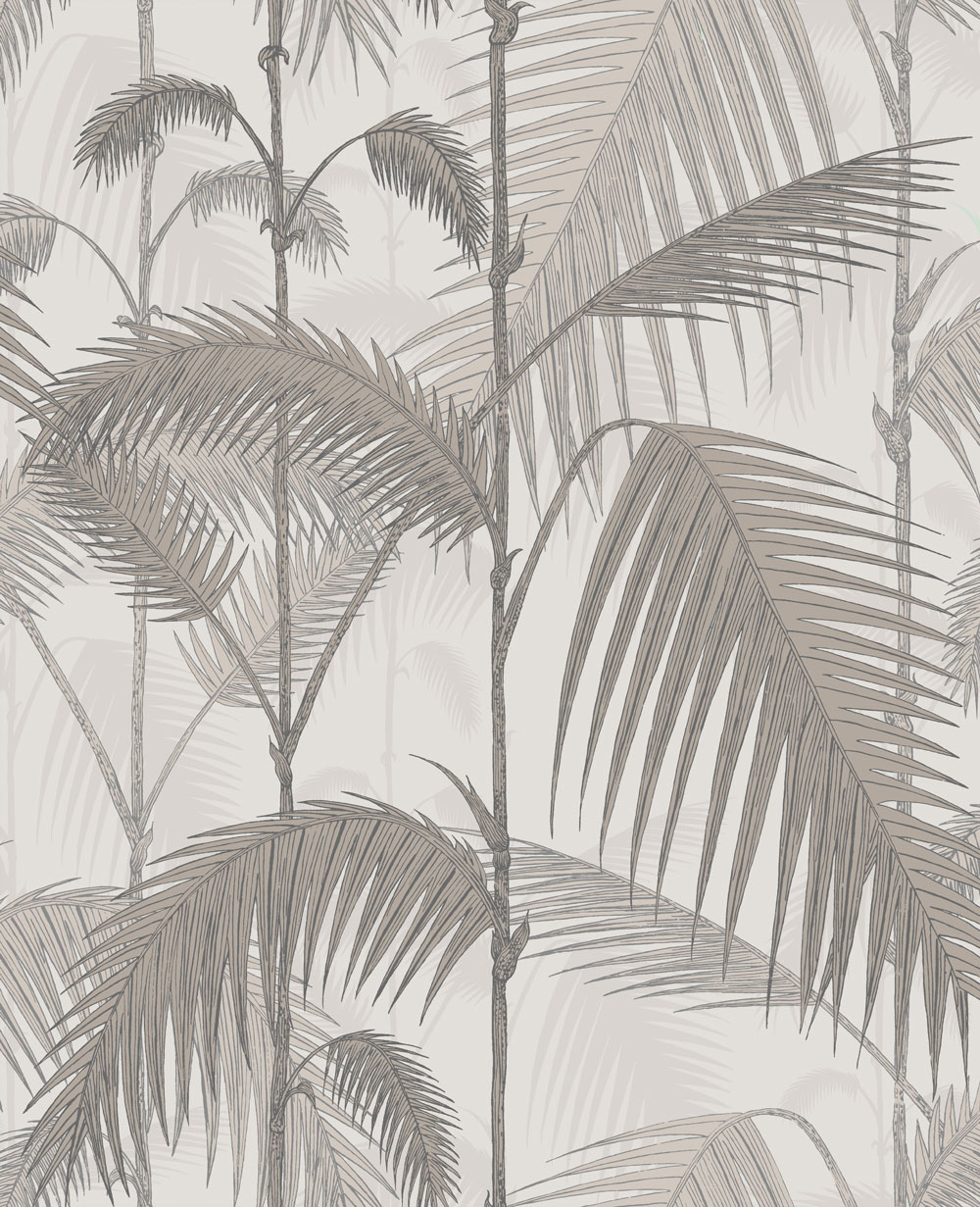 Cole & Son Palm Jungle Stone and Taupe Wallpaper main image