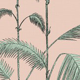 Cole & Son Palm Leaves Alabaster Pink and Mint Wallpaper