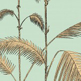 Cole & Son Palm Leaves Mint and Sand Wallpaper