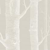 Cole & Son Woods Stone and White Wallpaper