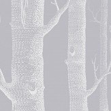 Cole & Son Woods Grey and White Wallpaper