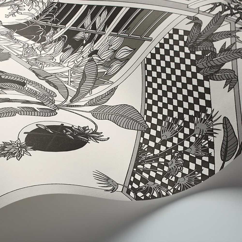 Miami Wallpaper - Soot and Snow - by Cole & Son