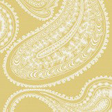 Cole & Son Rajapur Flock Yellow / White Wallpaper