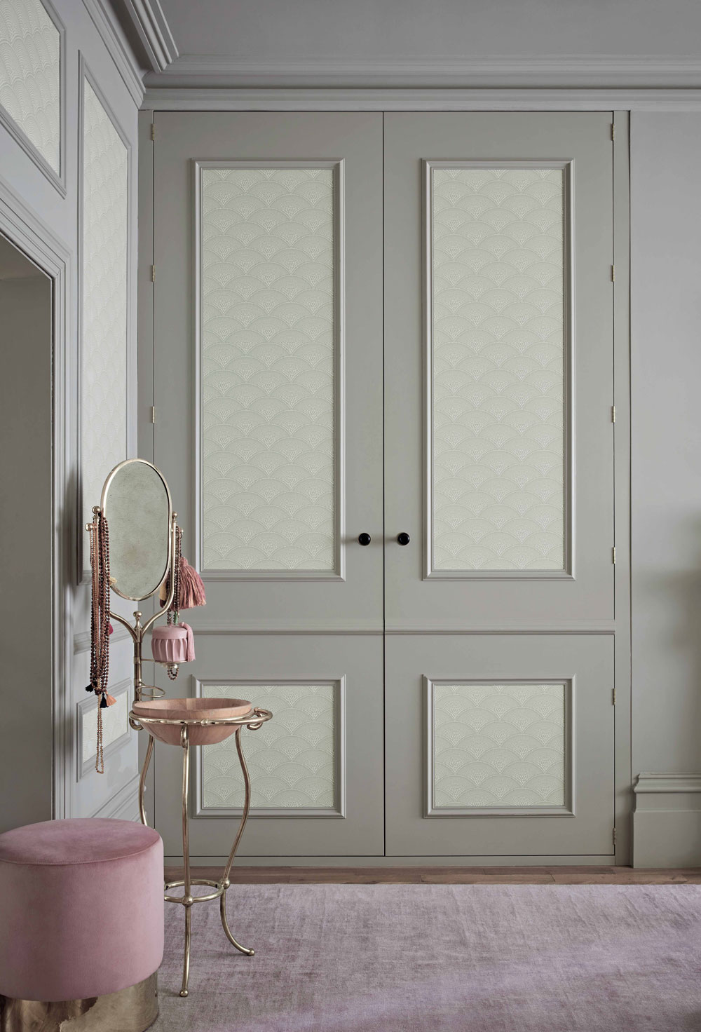 Feather Fan Wallpaper - Old Olive - by Cole & Son