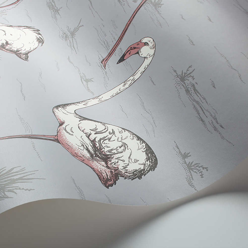 Cole & Son Flamingos Lilac Grey and Bronze Wallpaper - Product code: 112/11040