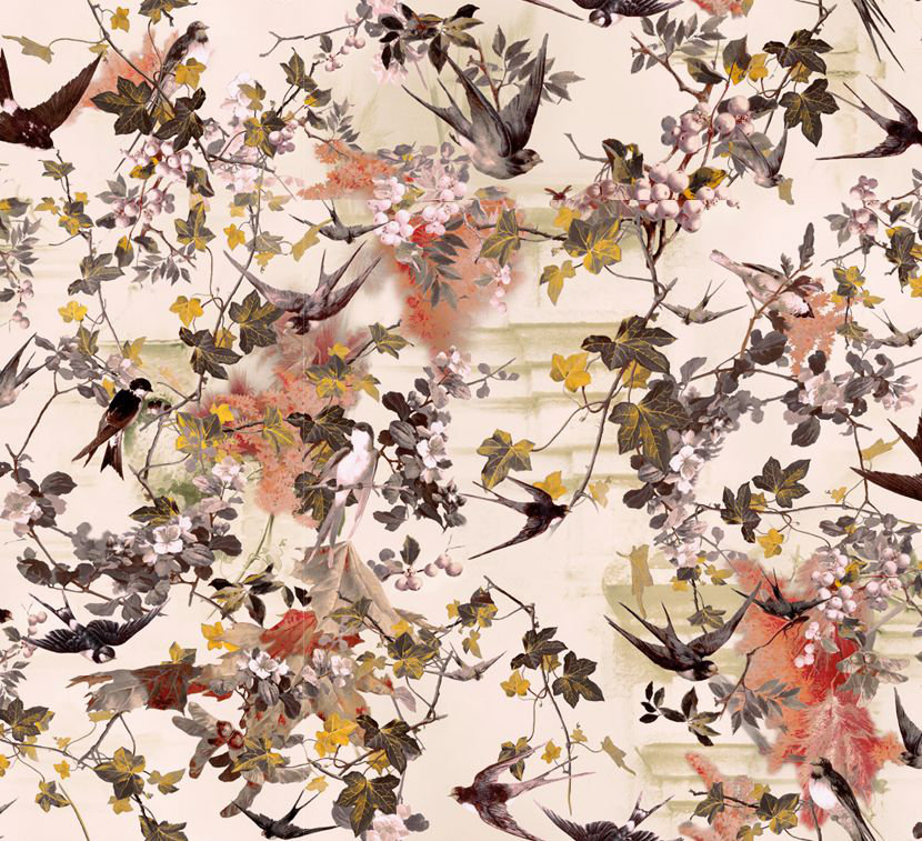 Jean Paul Gaultier Hirondelles Printemps Wallpaper - Product code: 3306/01