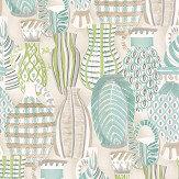 Nina Campbell Collioure Aqua / Green Wallpaper