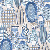 Nina Campbell Collioure Blue / Beige Wallpaper