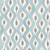Nina Campbell Beau Rivage Duck Egg / Taupe Wallpaper