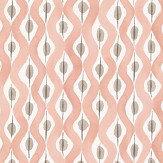 Nina Campbell Beau Rivage Pink / Taupe Wallpaper