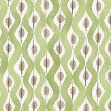 Nina Campbell Beau Rivage Green / Beige Wallpaper