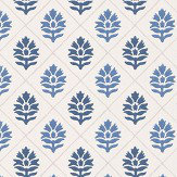 Nina Campbell Camille Indigo  / Blue  Wallpaper