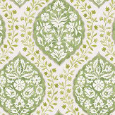 Nina Campbell Marguerite Green / Ivory Wallpaper - Product code: NCW4304/01