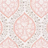 Nina Campbell Marguerite Pink / Grey Wallpaper