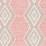 Nina Campbell Belle Ile Coral / Beige Wallpaper