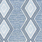 Nina Campbell Belle Ile Indigo / Blue Wallpaper