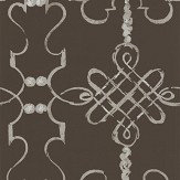 Nina Campbell Portavo Chocolate / Silve Wallpaper