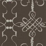 Nina Campbell Portavo Chocolate / Silve Wallpaper - Product code: NCW4308/01