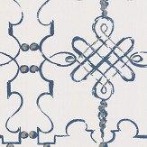 Nina Campbell Portavo Indigo / Ivory Wallpaper - Product code: NCW4308/03