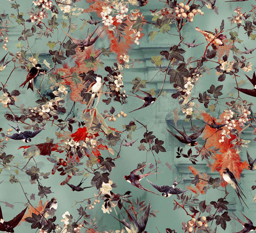Hirondelles Wallpaper - Ete - by Jean Paul Gaultier