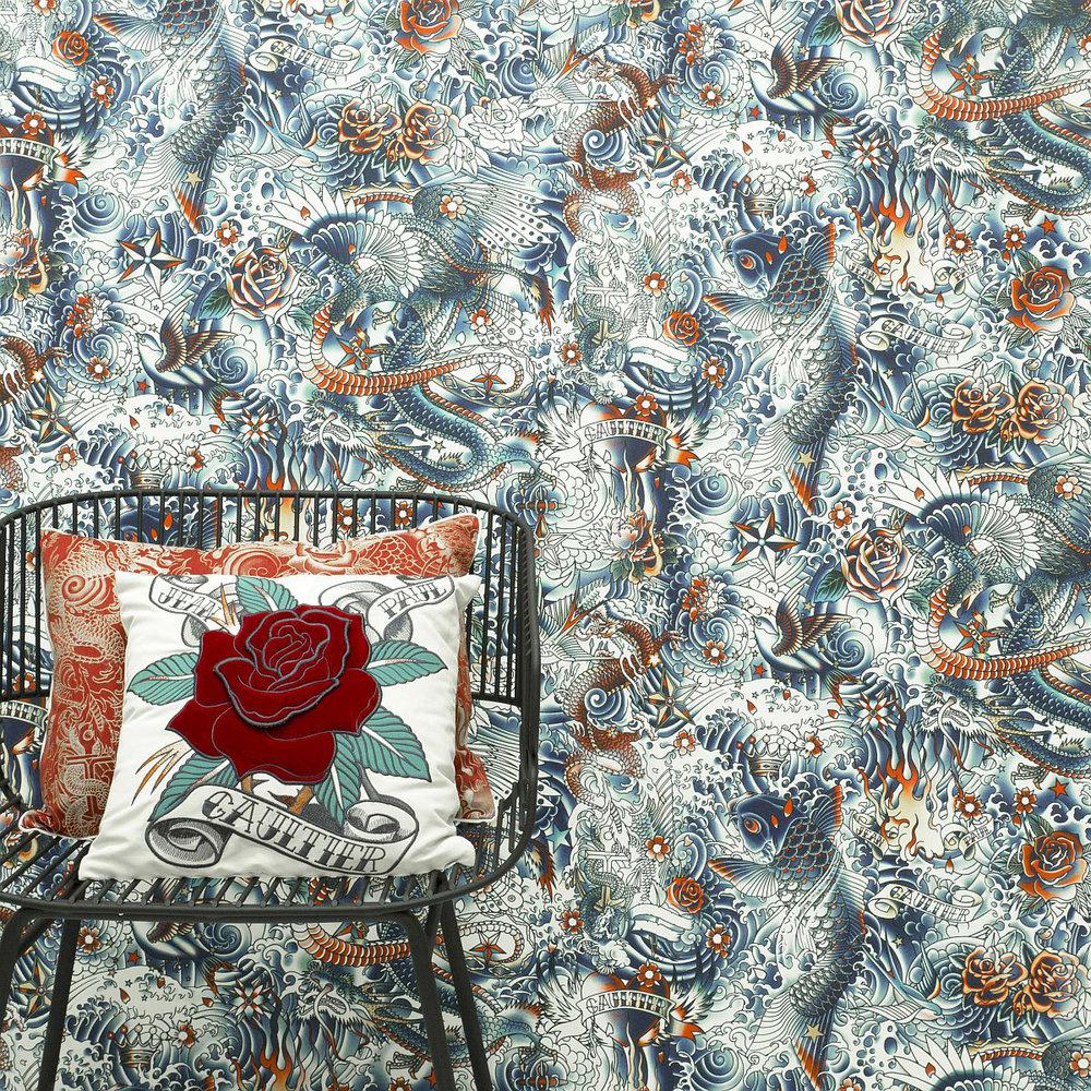 Jean Paul Gaultier Iresumi Multi-coloured Wallpaper - Product code: 3310/01