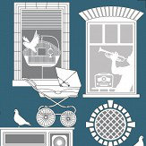 Mini Moderns One Day Washed Denim Wallpaper - Product code: AZDPT028WD