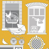Mini Moderns One Day Mustard Wallpaper