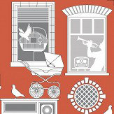 Mini Moderns One Day Harvest Orange Wallpaper