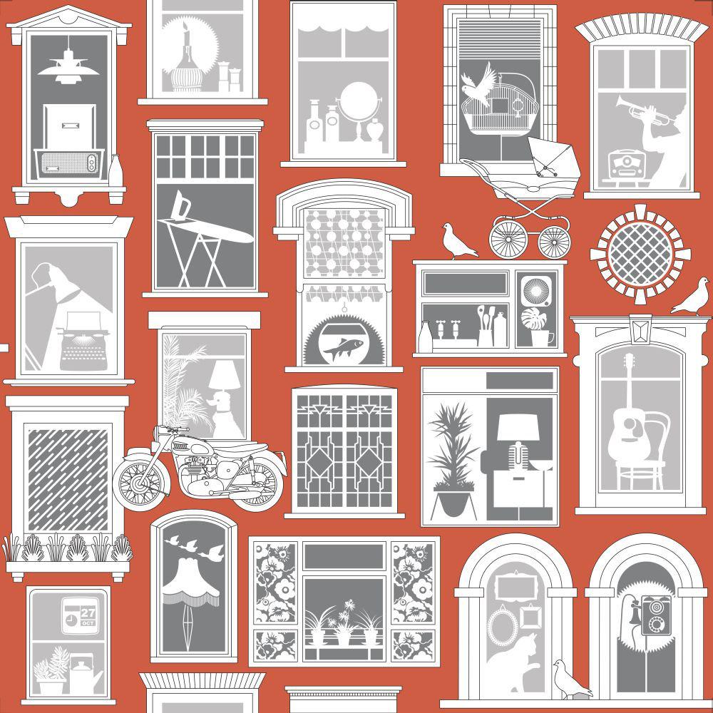 Mini Moderns One Day Harvest Orange Wallpaper - Product code: AZDPT028HO
