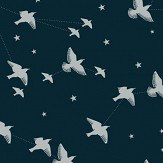 Mini Moderns Star-ling Midnight and Silver Wallpaper