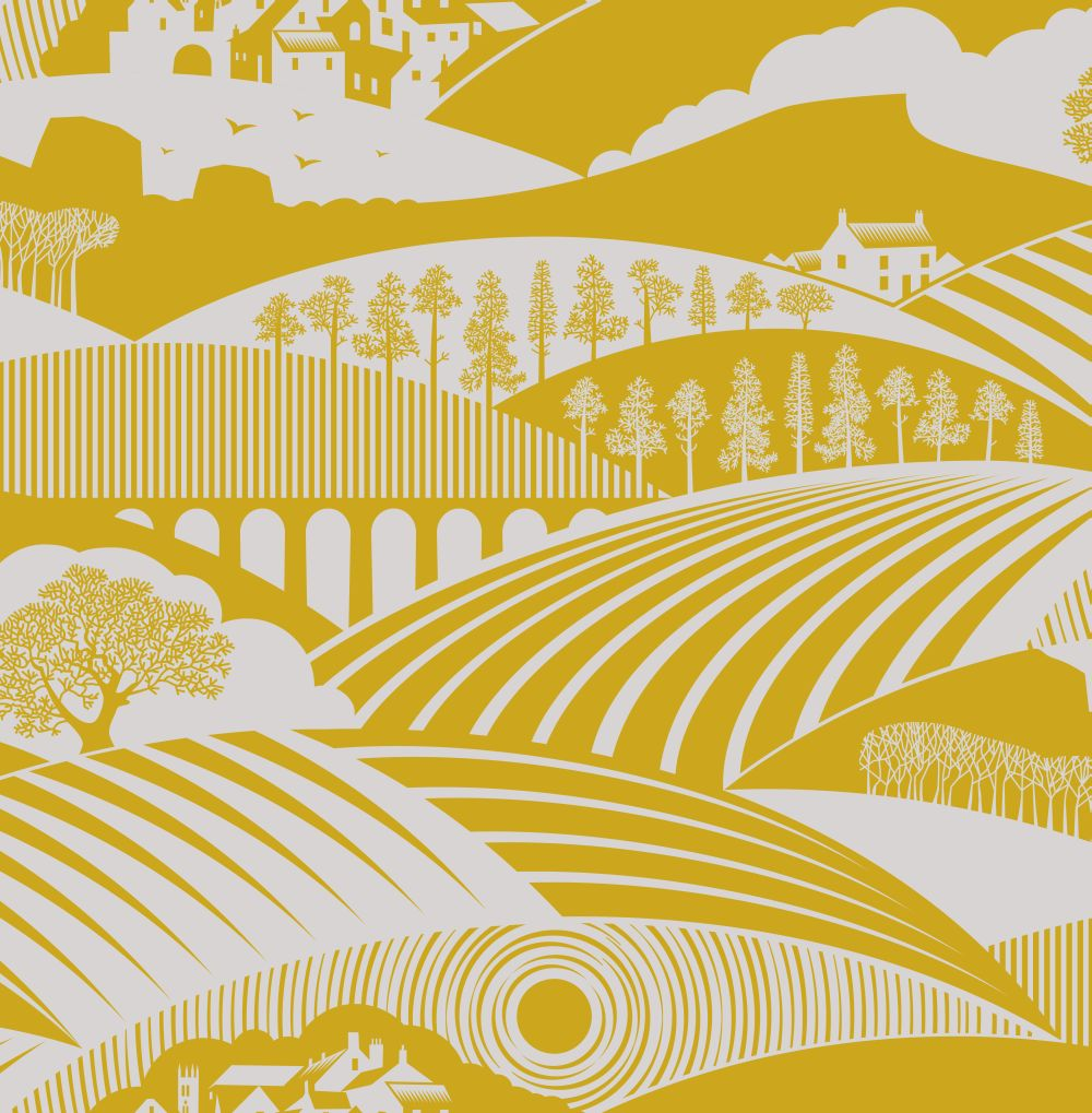 Mini Moderns Moordale Mustard Wallpaper - Product code: AZDPT033MU