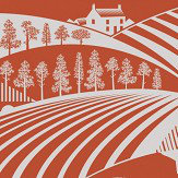 Mini Moderns Moordale Harvest Orange Wallpaper