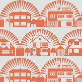 Mini Moderns Metroland Harvest Orange Wallpaper