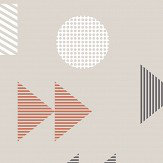 Mini Moderns Play/Record Harvest Orange Wallpaper