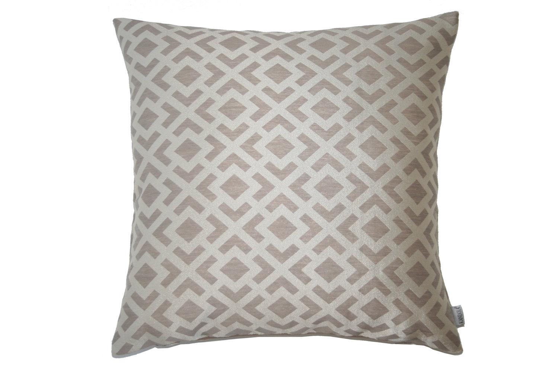 Trellis Weave Cushion - Mink - by Kandola