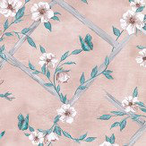 Matthew Williamson Rosanna Trellis Blush Wallpaper