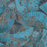 Matthew Williamson Fanfare Teal Wallpaper