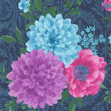 Matthew Williamson Duchess Garden Ink Wallpaper
