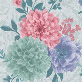 Matthew Williamson Duchess Garden Ice Wallpaper - Product code: W7147/03