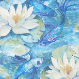 Matthew Williamson Water Lily Azure Blue Wallpaper