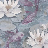 Matthew Williamson Water Lily Dove Grey Wallpaper - Product code: W7148/04