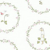 Boråstapeter Pyrola White/ Pink/ Green Wallpaper