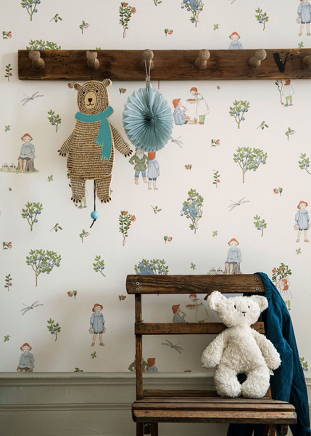 Boråstapeter Putte Lingonberry and Blueberry Wallpaper - Product code: 6234